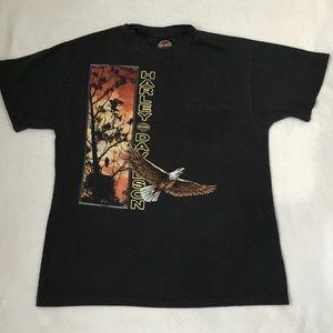 Vintage Harley-Davidson Eagle Pocket T-Shirt